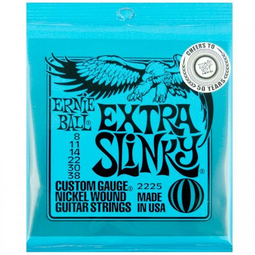 Ernie Ball 2225 Extra Slinky Electric 8-38 Guitar Strings